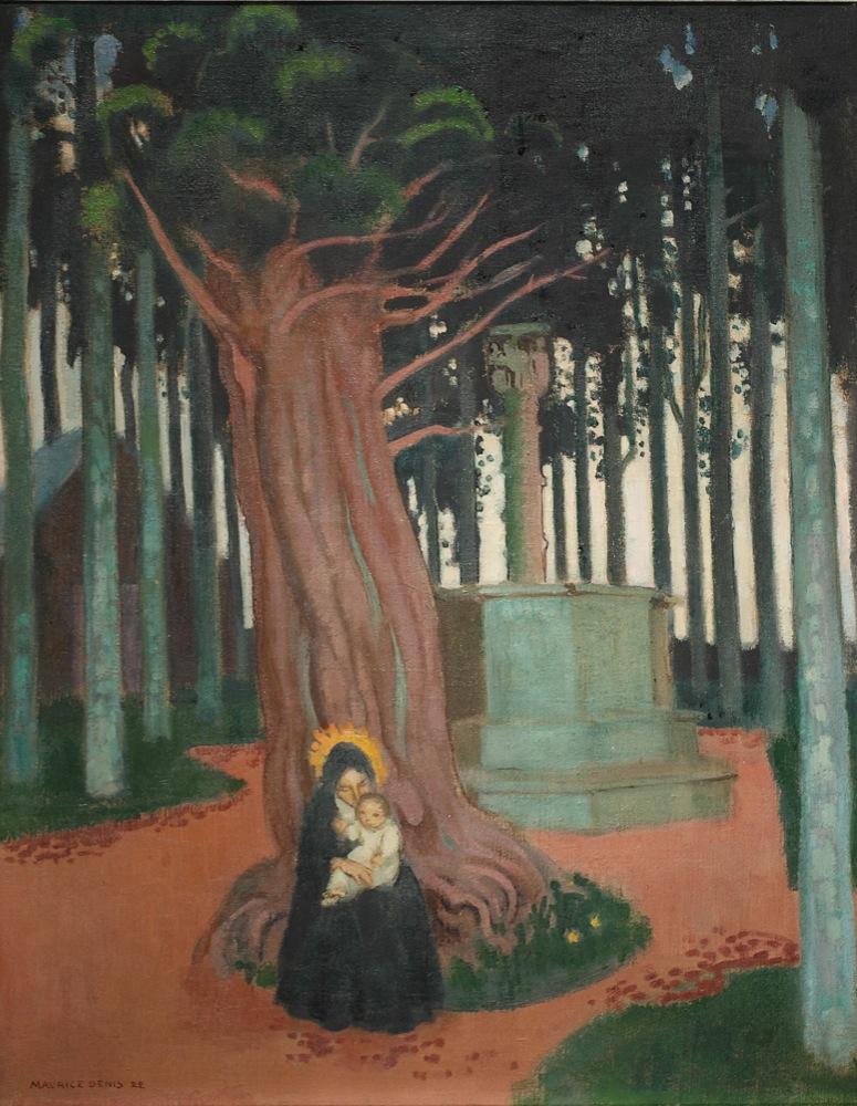 Vierge de Saint Gonery (1922), huile sur toile de Maurice Denis. Source : catalogue raisonné de l'oeuvre de M. Denis