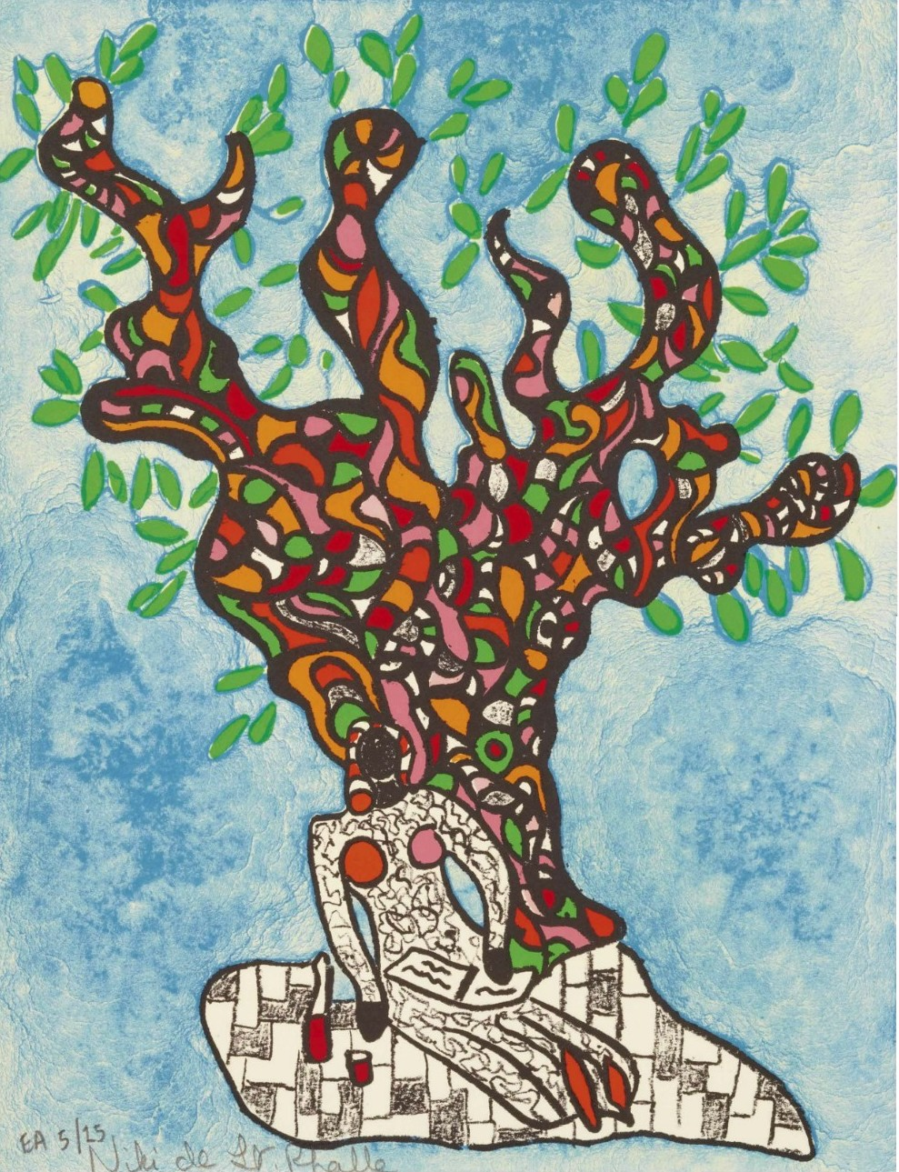 niki saint phalle-femme sous l'arbre